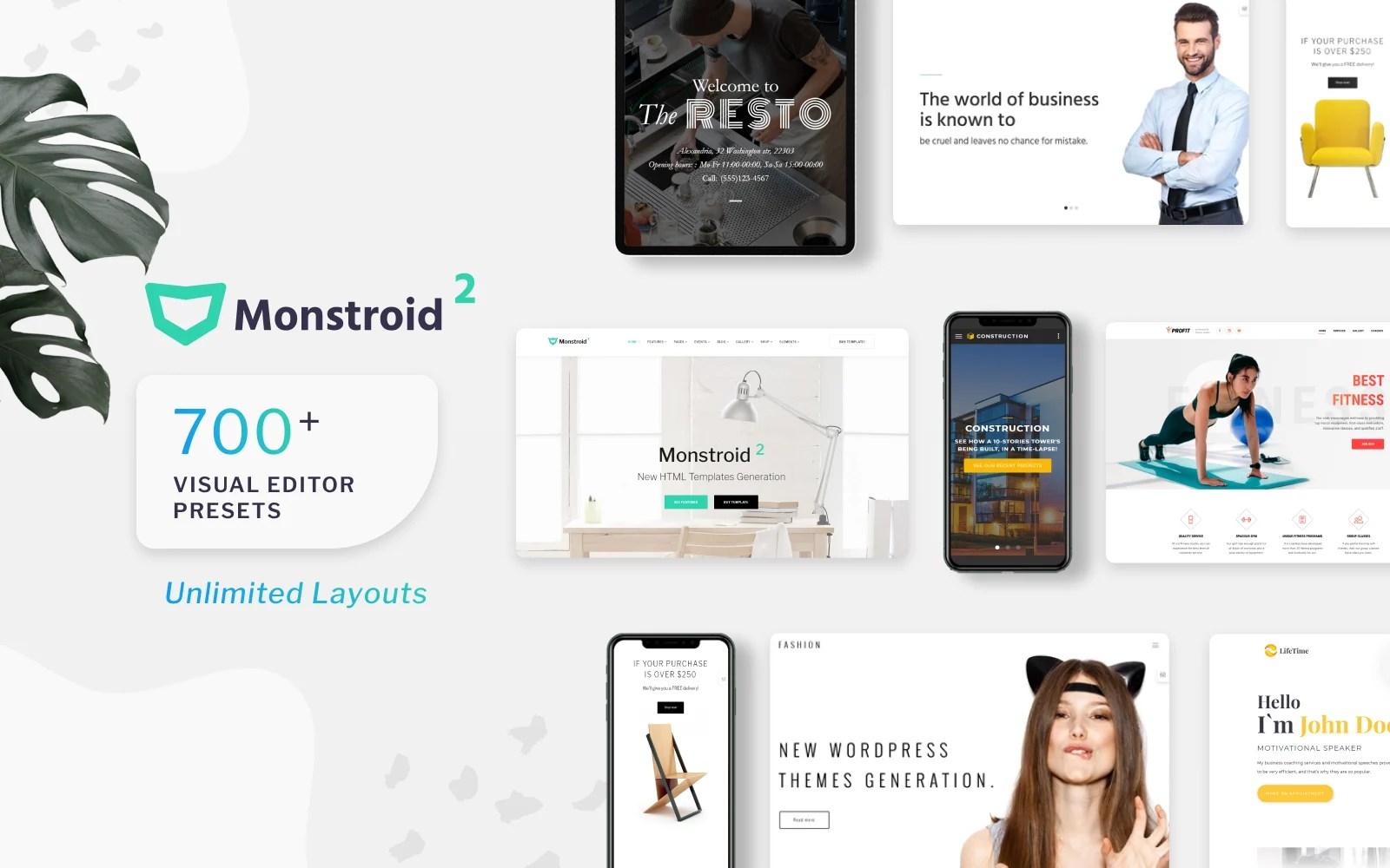 Monstroid2 Multipurpose Website Template