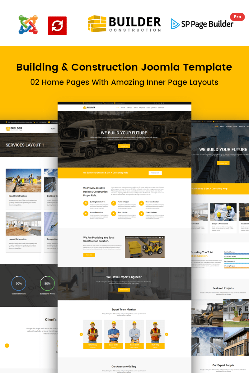 Builder Construction Company Joomla Template 65495