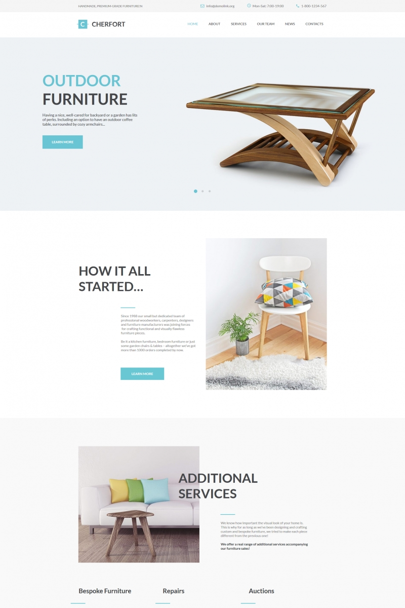 moto cms html vorlage namens cherfort furniture company new screenshots big