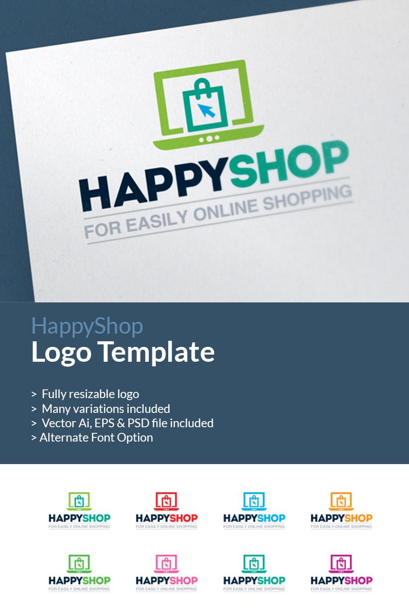 Online Shopping E Commerce Shop Logo Template