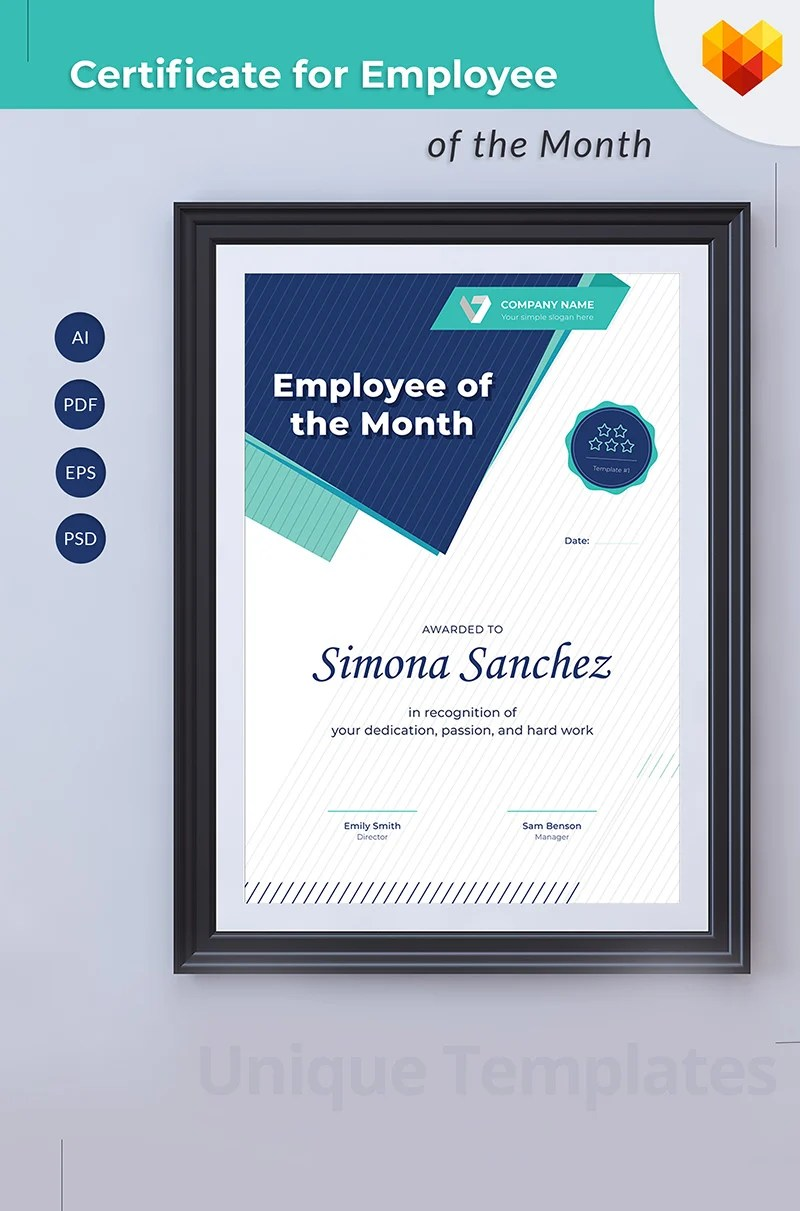 Employee Of The Month Certificate Template 68043