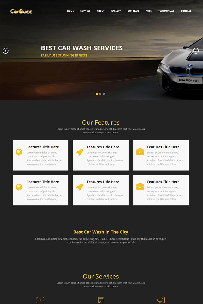 Carbuzz Auto Mechanic Car Repair Html Template Landing Page Template