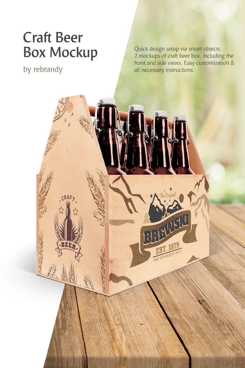 Download Craft Beer Box Product Mockup #78502