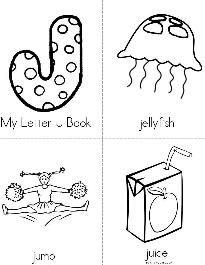 My Letter J Book Twisty Noodle