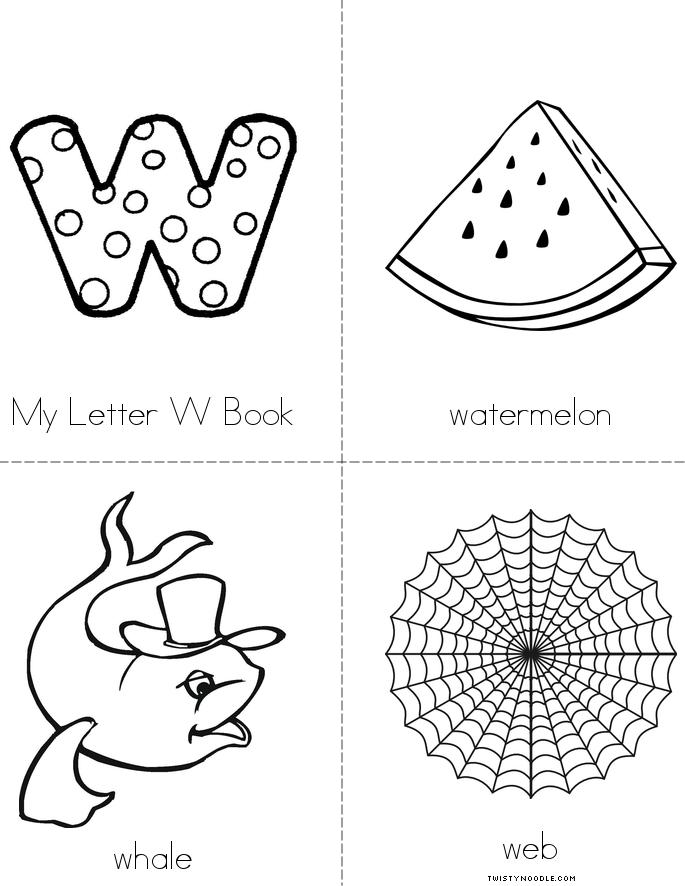 My Letter W Book Twisty Noodle