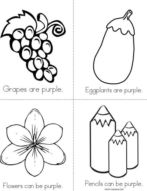 color purple colouring pages