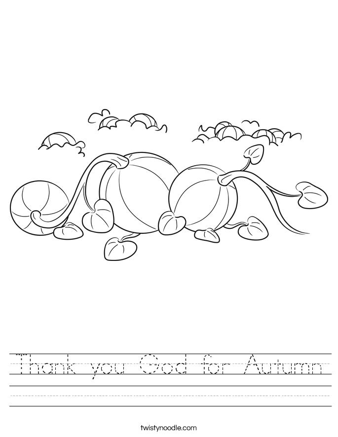 thank you god for autumn worksheet twisty noodle