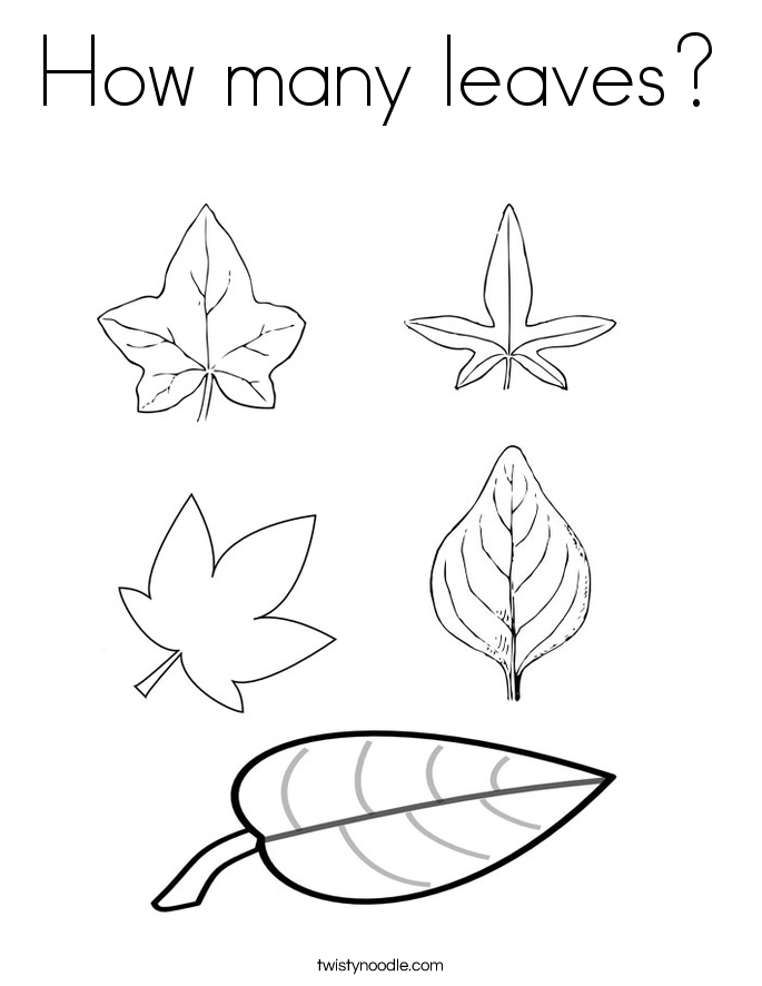leaf coloring pages coloring page