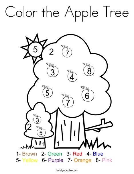 apple tree coloring pages # 8