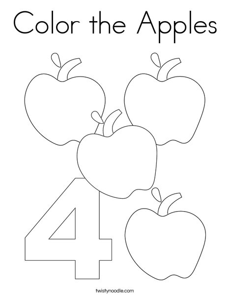 Color The Apples Coloring Page Twisty Noodle