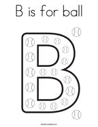 letter b coloring page # 3