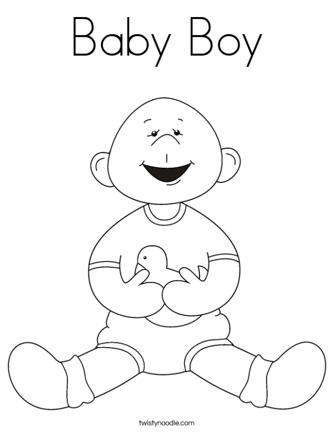 new baby coloring pages twisty noodle - New Baby Coloring Pages