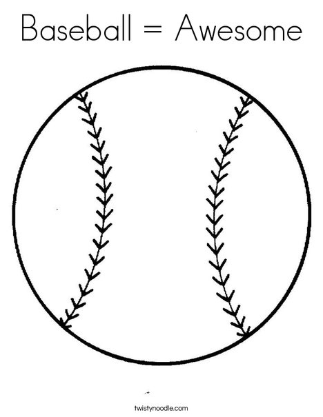 baseball awesome coloring page twisty noodle