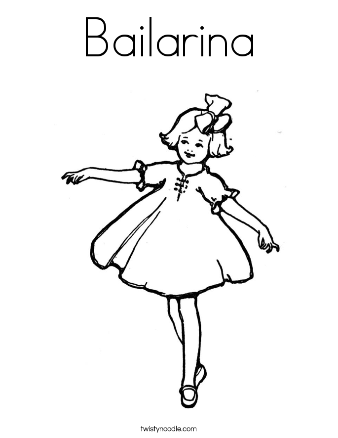 bailarina coloring page twisty noodle