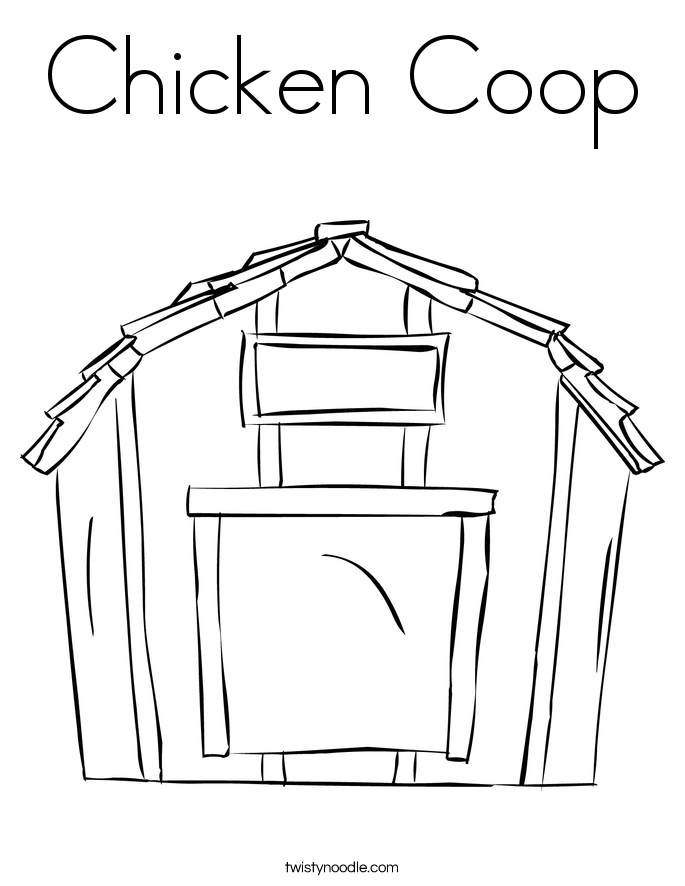 chicken coop coloring page twisty noodle