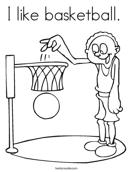 i like basketball coloring page twisty noodle