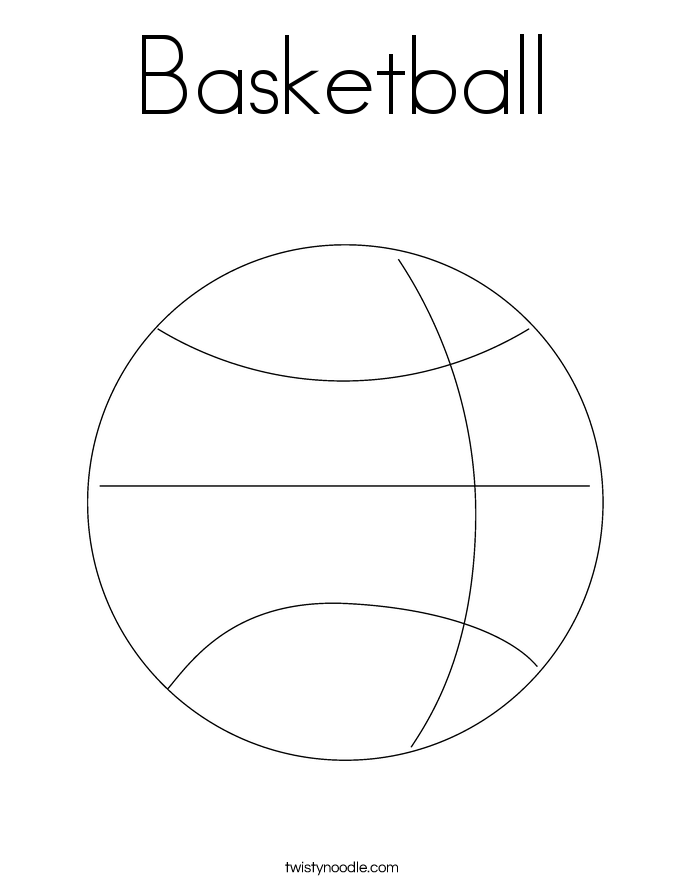 basketball coloring pages twisty noodle