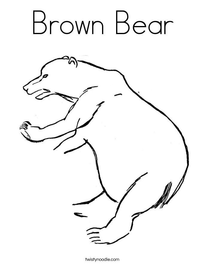 brown bear coloring page  twisty noodle