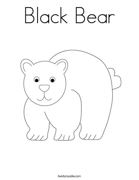 black bear coloring page # 0