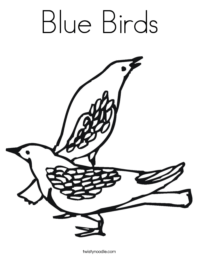 blue birds coloring page twisty noodle