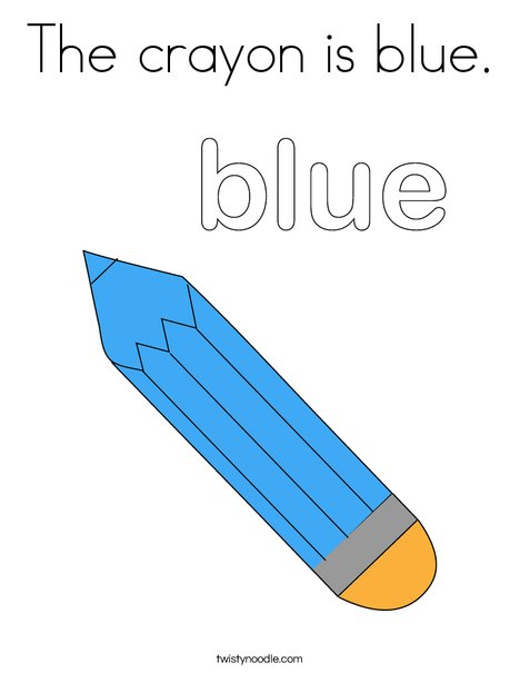 the crayon is blue coloring page twisty noodle