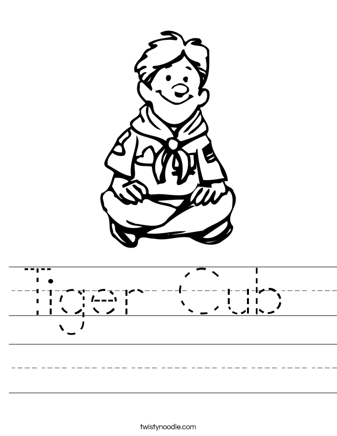tiger cub worksheet twisty noodle