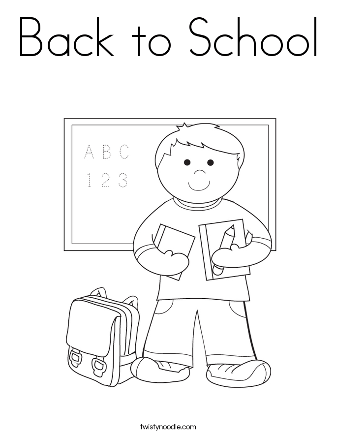 back to school coloring page twisty noodle