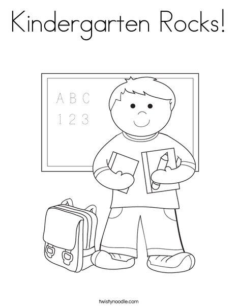 kindergarten rocks coloring page twisty noodle