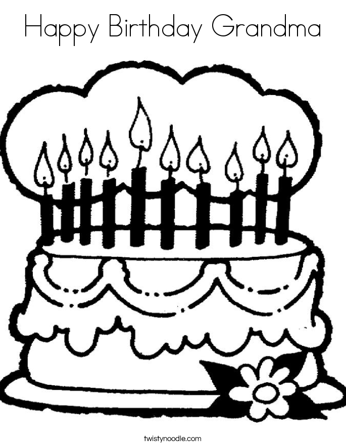 Happy Birthday Grandma Coloring Pages - GetColoringPages.com | 886x685