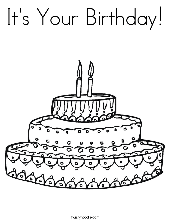 it 39 s your birthday coloring page twisty noodle