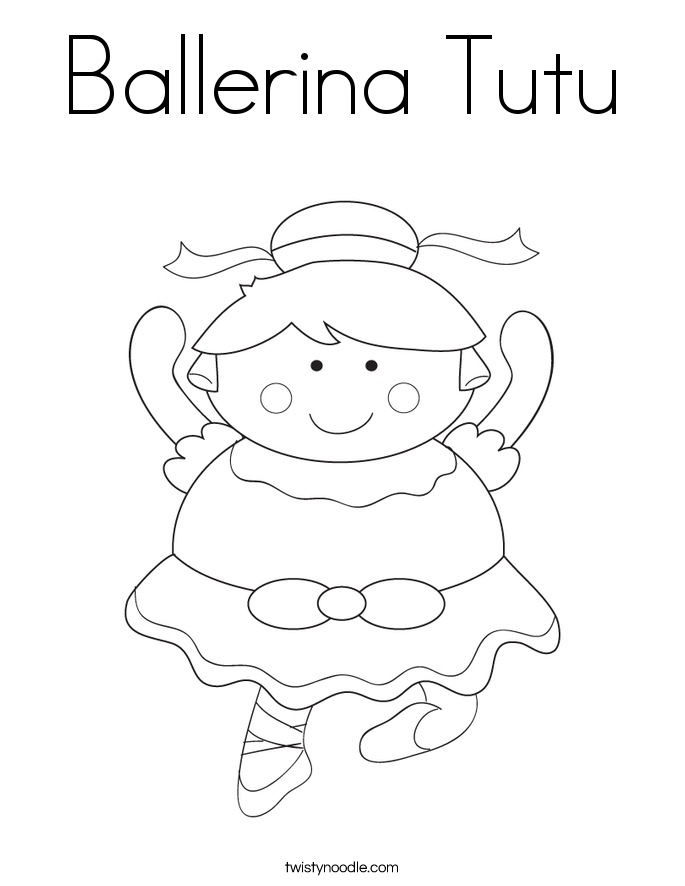 ballerina tutu coloring page twisty noodle