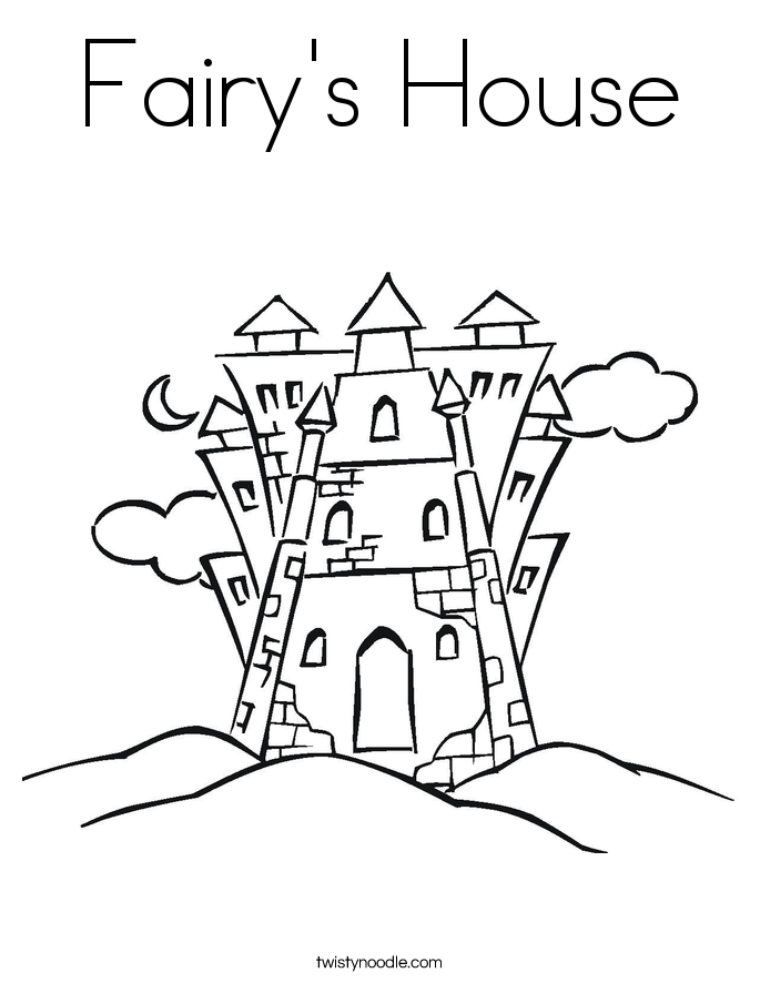 fairy's house coloring page  twisty noodle