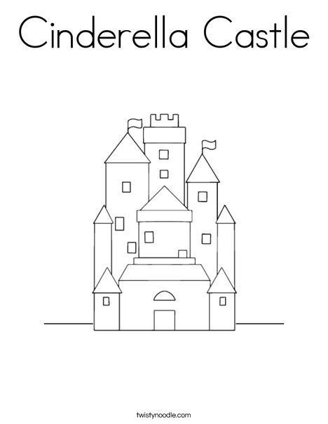 cinderella castle coloring page twisty noodle