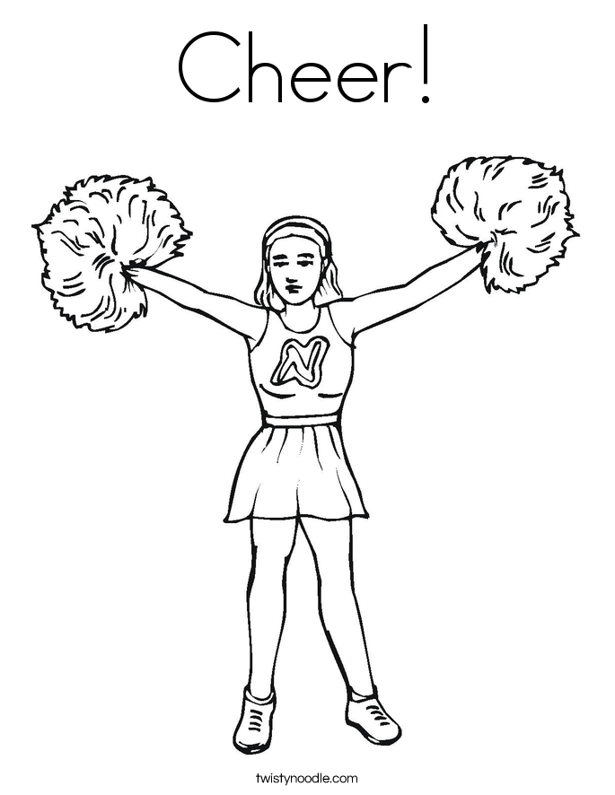 football cheerleaders coloring pages – ourwayofpassion.com | 886x685