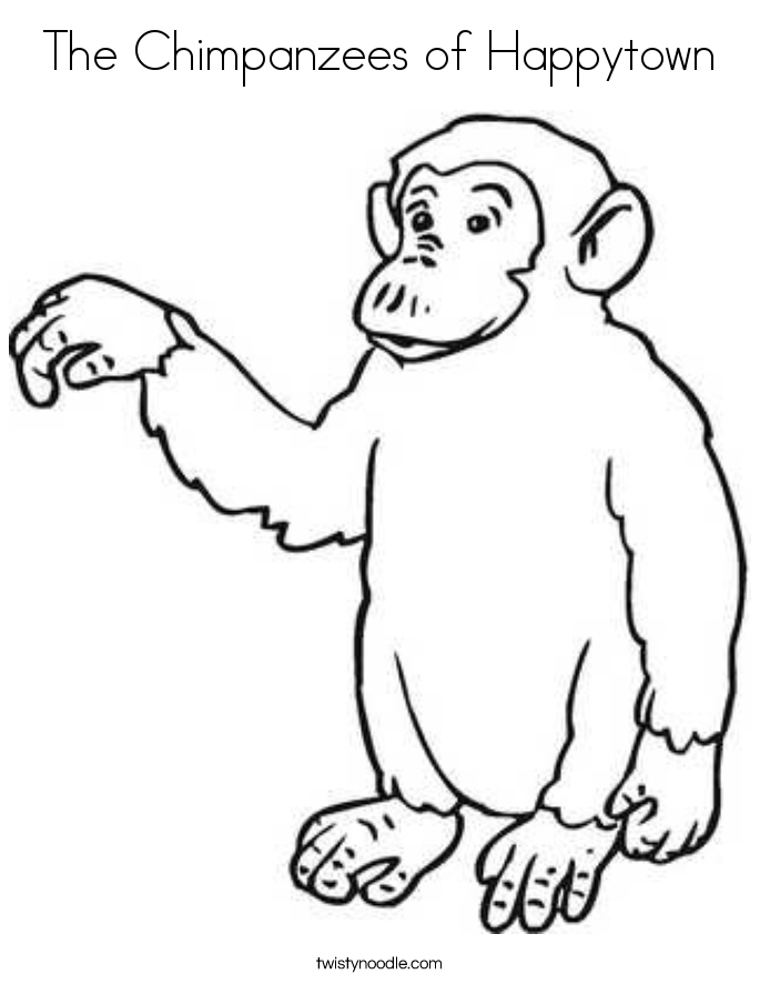 the chimpanzees of happytown coloring page twisty noodle