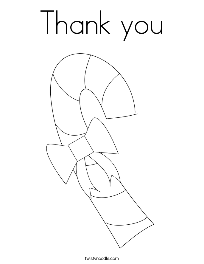thank you coloring page twisty noodle