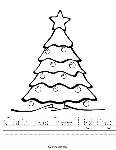 christmas tree lighting worksheet twisty noodle