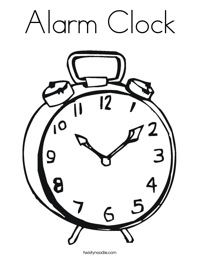 clock coloring pages alarm clock coloring page twisty noodle
