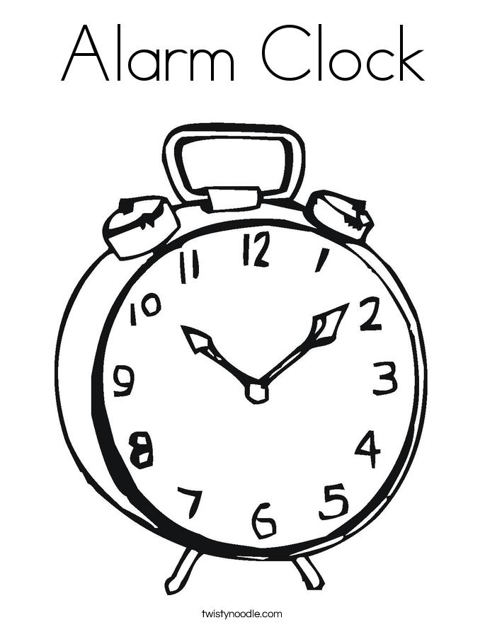 alarm clock coloring page twisty noodle
