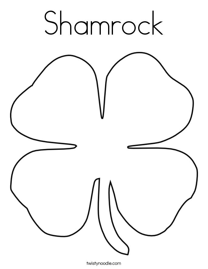 shamrock coloring page twisty noodle