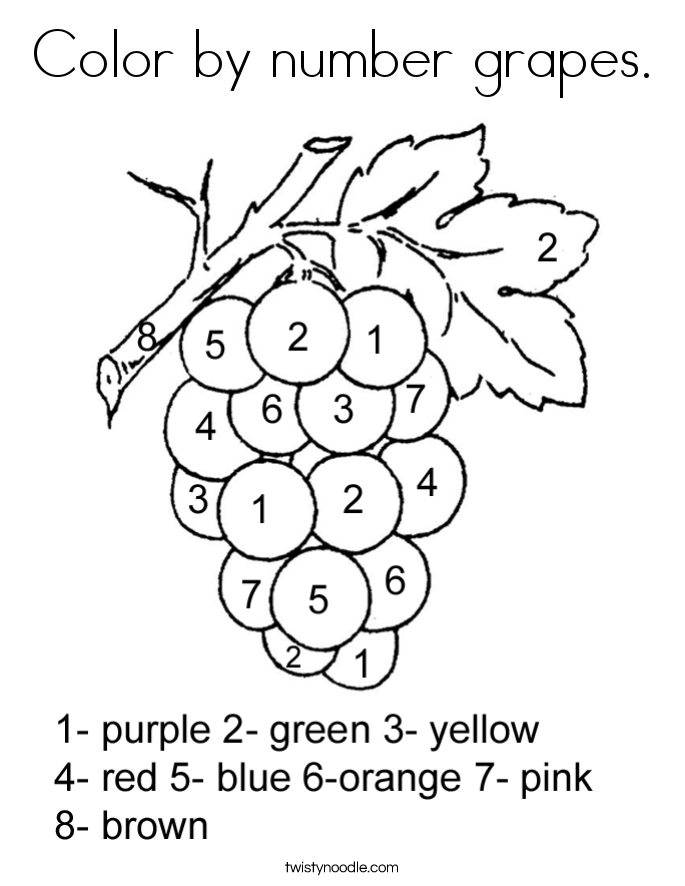 fruit coloring pages twisty noodle
