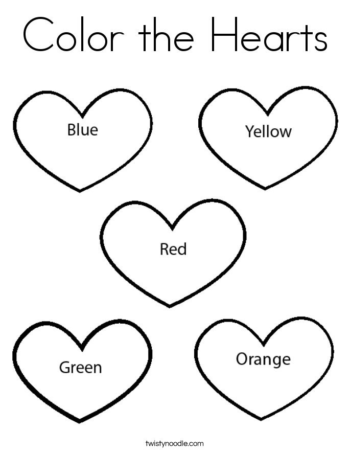 color the hearts coloring page twisty noodle