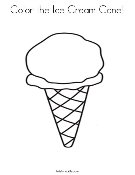 color the ice cream cone coloring page twisty noodle