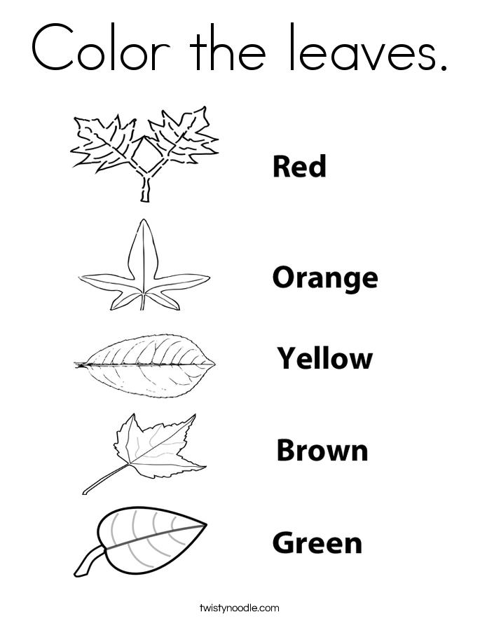 leaf coloring pages twisty noodle
