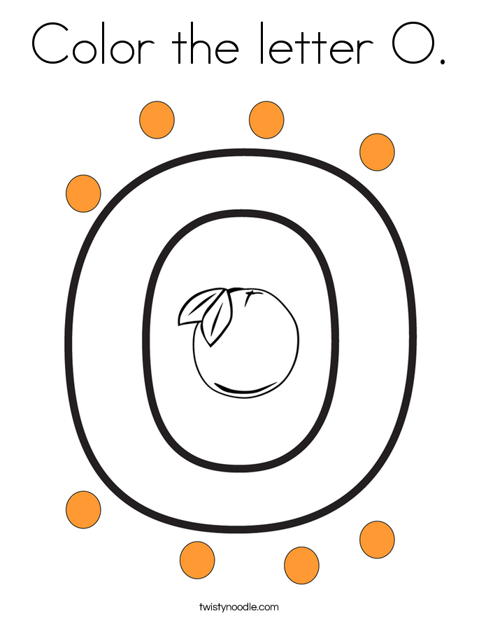 color the letter o coloring page  twisty noodle