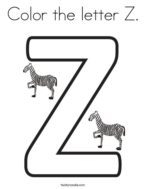 letter z coloring page # 7