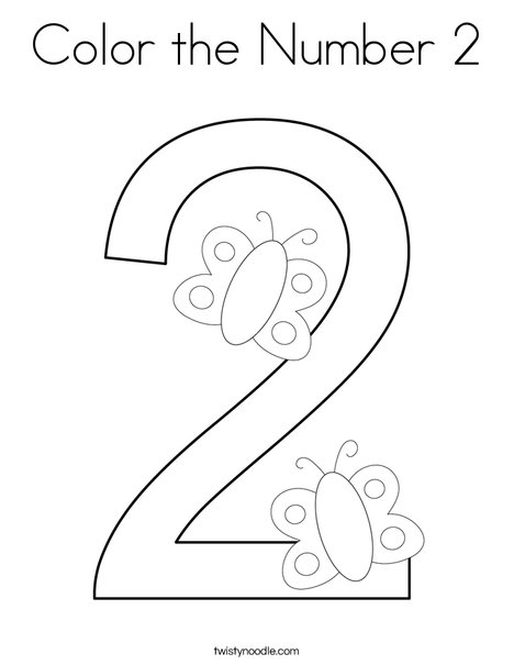 number 2 coloring page # 0