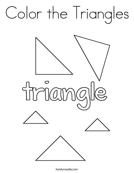triangle coloring page # 4