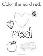 red coloring pages twisty noodle