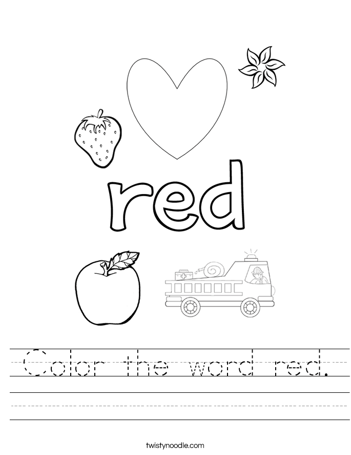 primary color worksheets for kindergarten primary colors